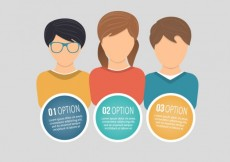 Free vector Options infographic with young people #22148