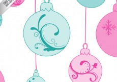 Free vector Ornamental christmas baubles background #25114
