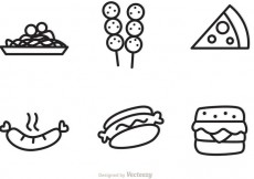 Free vector Outlined Food Icons Vectors #21273