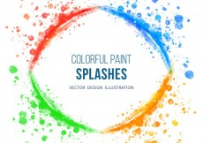 Free vector Paint splashes in colorful style #27553
