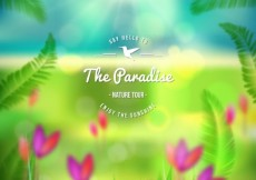 Free vector Paradise poster #21298