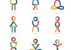 Free vector People icons in abstract style #20866