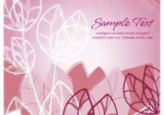 Free vector Pink floral background #26383