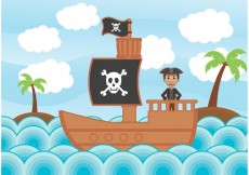 Free vector Pirate Illustration Vectors #23455