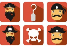 Free vector Pirate Vector Icons #22109