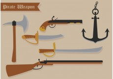 Free vector Pirate Vector Weapons #23867