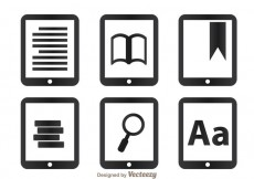 Free vector Read Icons On Tablet #20346