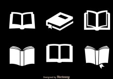 Free vector Read White Icons #20453