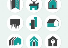 Free vector Real estate icons #20930