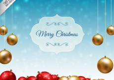 Free vector Realistic christmas baubles background #24890
