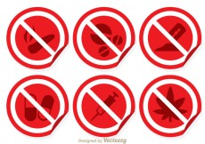 Free vector Red And White No Drugs Sign #24671