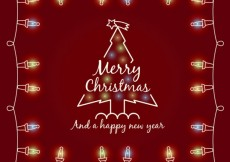 Free vector Red Christmas Card #25789
