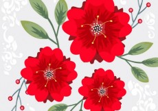 Free vector Red flowers background #20844