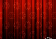 Free vector Red ornamental curtain background #25927