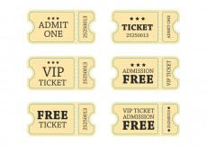 Free vector Retro Concert Ticket Vector #25724