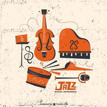 Free vector Retro jazz instruments #25293