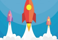 Free vector Rockets launching #22266