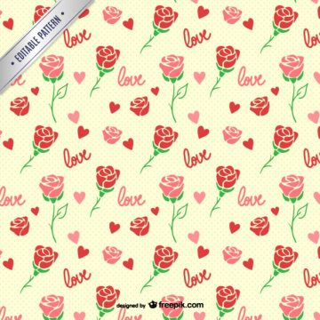 Free vector Roses seamless pattern #22232