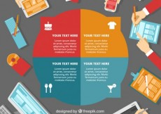 Free vector Round business infographic template #26769