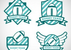 Free vector Rugby tema badges #24722