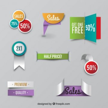 Free vector Sale labels collection #21358