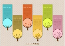 Free vector Seasonal Tree Label Vector Templates #23019