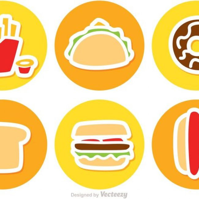 Free vector Set Of Fast Food Icons Vector #22157