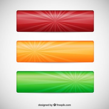 Free vector Set of three colorful banners #21074