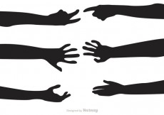 Free vector Silhouette Hand Reaching Vectors #23239