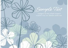 Free vector Silver floral background #27463