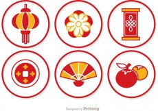 Free vector Simple Lunar New Year Circle Icons Vector #27762