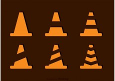 Free vector Simple Orange Cone Vectors #24059
