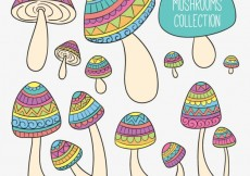 Free vector Sketchy abstract mushrooms #26211