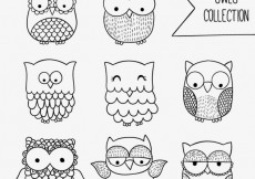 Free vector Sketchy owls collection #27097