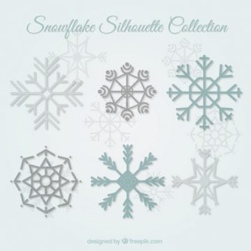 Free vector Snowflake silhouettes collection #25118