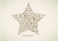 Free vector Snowflake Star Vector Background #27682