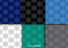 Free vector Snowflakes seamless patterns #20819