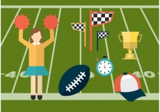 Free vector Sport and Cheerleading Vector Icons #23625