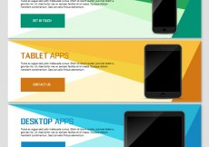 Free vector Technology app banners #25387
