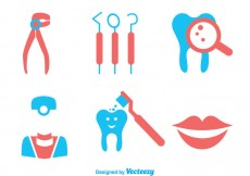 Free vector Teeth Care Duo Tones Colors Icons #24431