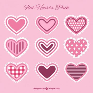 Free vector Tender hearts collection #24824