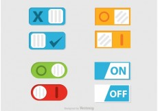 Free vector Toggle On Off Button Vector #21805