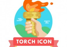 Free vector Torch icon #27617