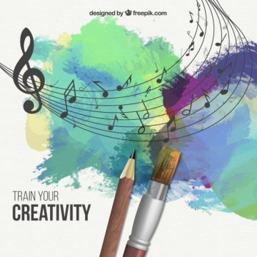 Free vector Train your creativity illustration #26031