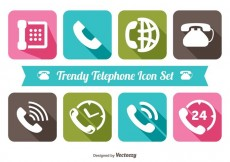 Free vector Trendy Telephone Icon Set #21327