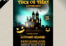Free vector Trick or treat poster #24388