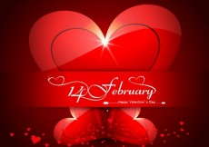 Free vector Valentine greeting with red hearts #24760