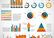 Free vector Variety of colored infographic elements #26809
