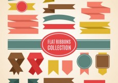 Free vector Variety of flat ribbons collection #26777