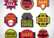 Free vector Variety of halloween labels #20299